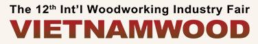 越南胡志明市国际木工机械展览会logo