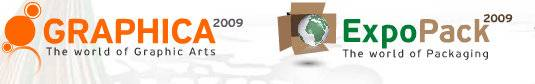 希腊雅典机器和材料的图案艺术,出版,传播和包装展览会logo